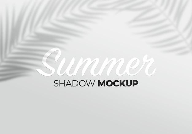 Mockup effetto sovrapposizione grigio di foglie di palma ombre trasparenti