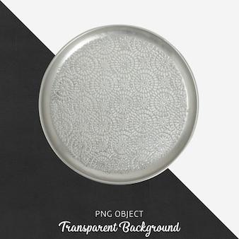 Piatto da portata fantasia grigio su trasparente