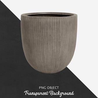 Vaso grigio su trasparente