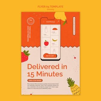 Modello di stampa del servizio di consegna di generi alimentari