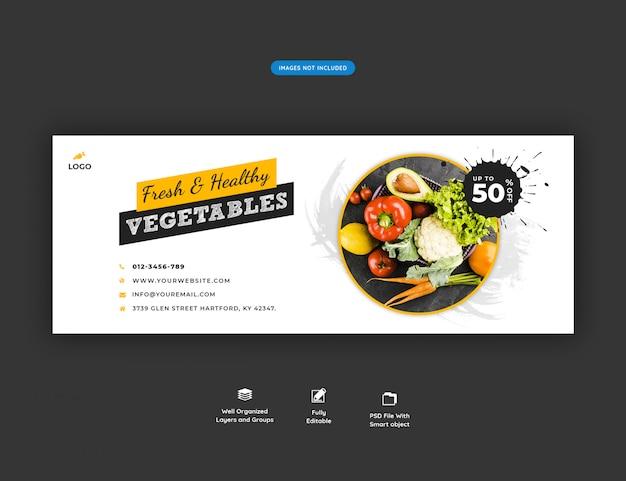 Banner di social media vendita di alimentari