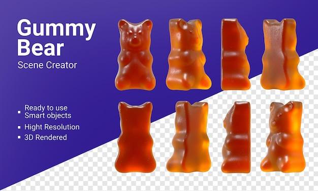 Rendering realistico di orsetto gommoso