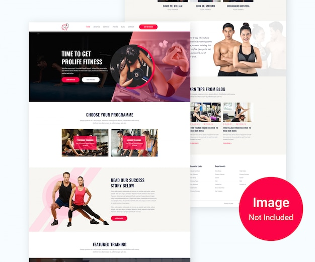 Progettazione di siti web di palestra e fitness