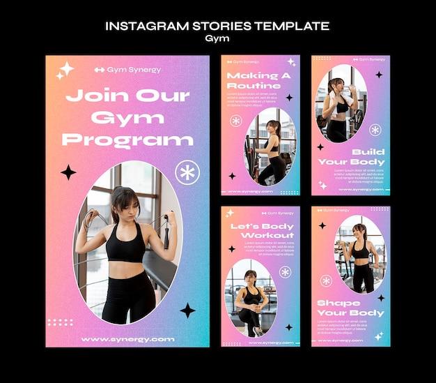 Modello di storie di instagram di programma di palestra