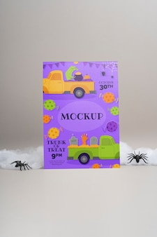 Disposizione di halloween con carta mock-up