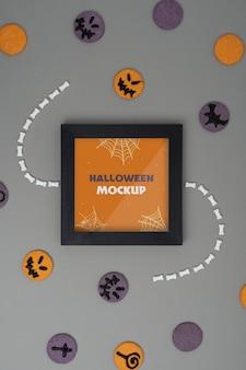 Assortimento di mock-up per bordi di halloween