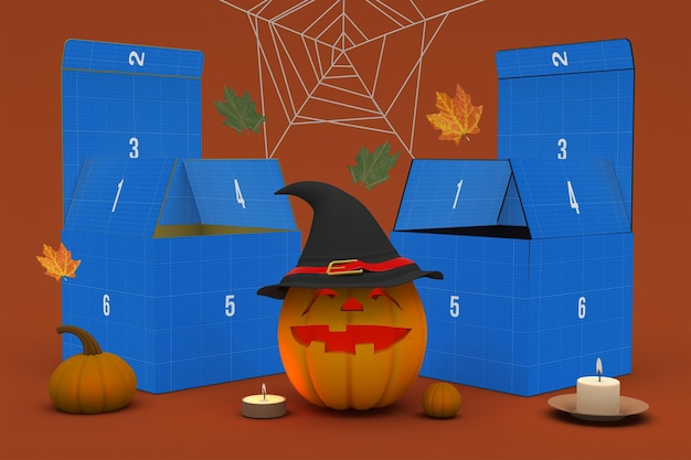 Scatola di halloween Psd Premium