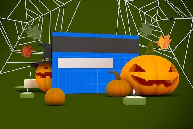 Mockup di carta di credito di halloween