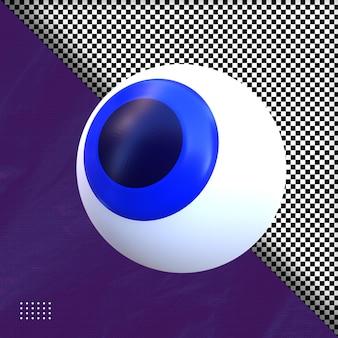 Rendering 3d dell'illustrazione dell'occhio di halloween