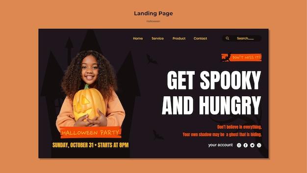 Pagina di destinazione del cibo di halloween