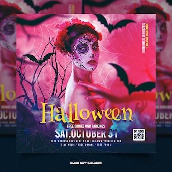 Post sui social media della festa della notte dell'orrore di halloween
