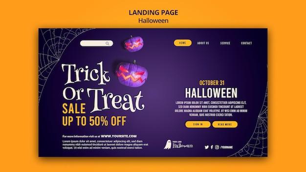 Modello di pagina di destinazione di halloween