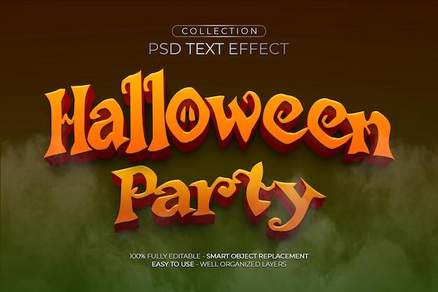 Effetto di testo personalizzato per la festa di halloween
