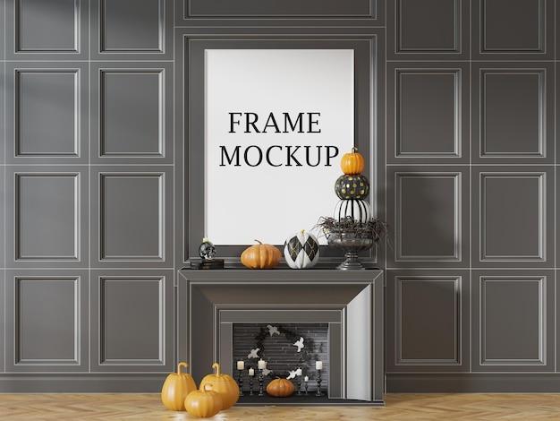 Mockup di cornice per feste di halloween