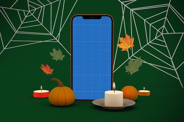 Modello di telefono di halloween