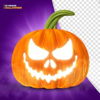 Rendering 3d della zucca di halloween per la composizione