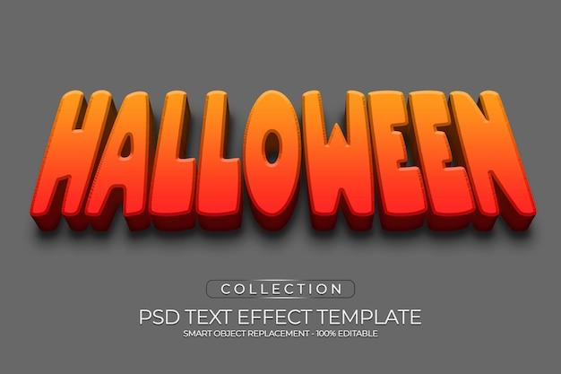 Effetto di testo personalizzato rock di halloween