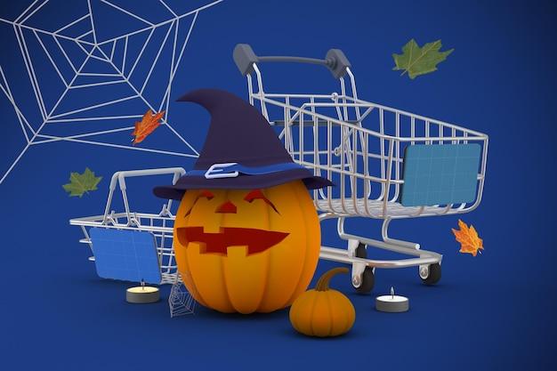 Modello di shopping di halloween