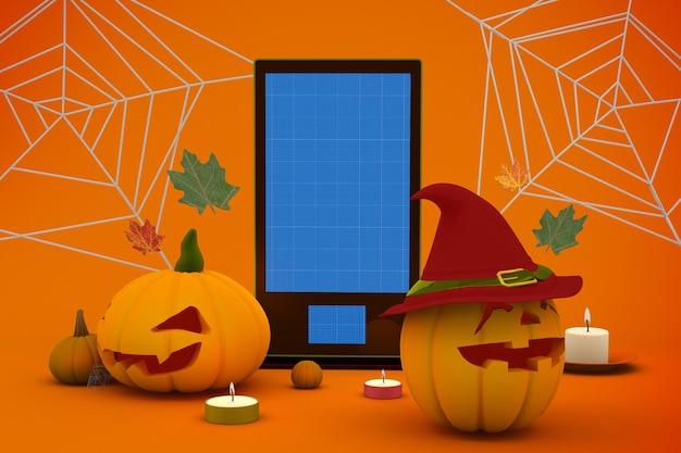 Mockup di segnaletica di halloween