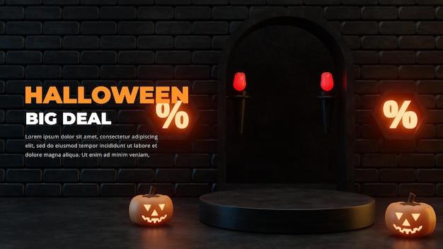 Progettazione del podio di vendita di promozione a tema di halloween