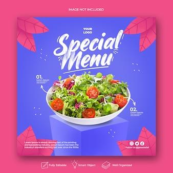 Modello di post instagram menu speciale disegnato a mano