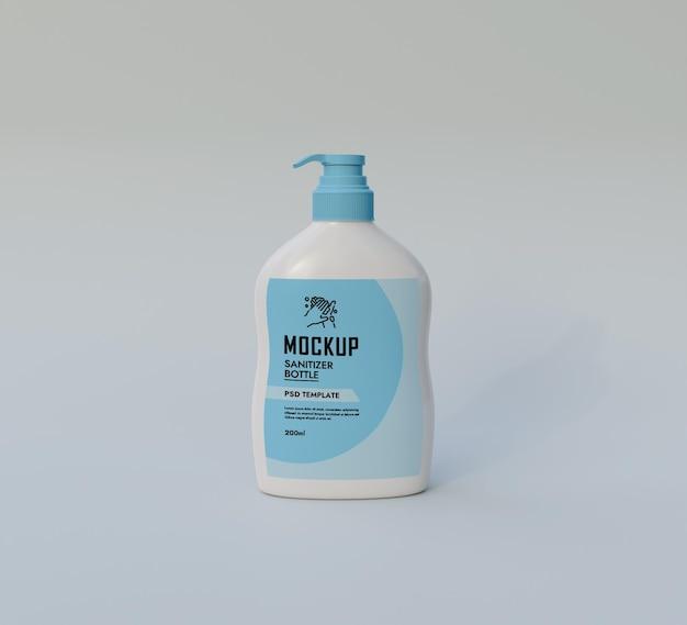 Mockup di bottiglia disinfettante per le mani psd premium