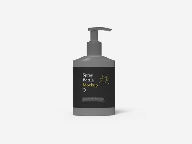 Bottiglia del prodotto disinfettante della mano su bianco