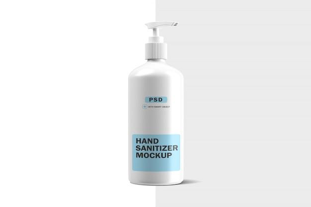 Mockup di bottiglia di plastica disinfettante per le mani
