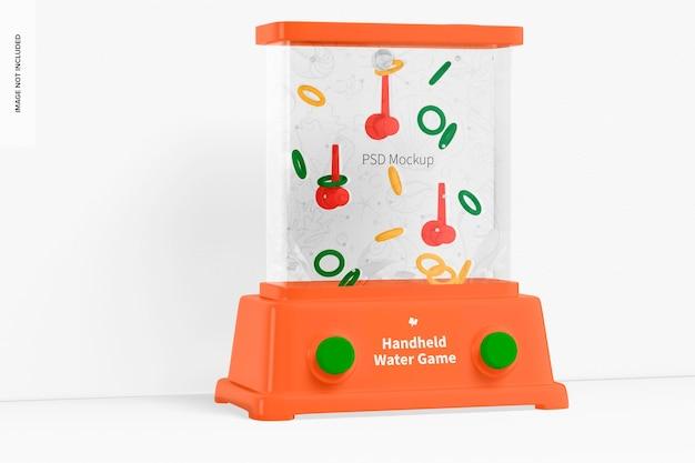 Mockup di gioco d'acqua portatile