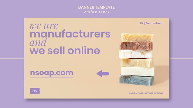 Modello di banner per negozio di sapone fatto a mano
