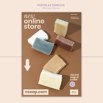 Modello di stampa per negozio di sapone fatto a mano
