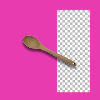 Cucchiaio di legno fatto a mano isolato