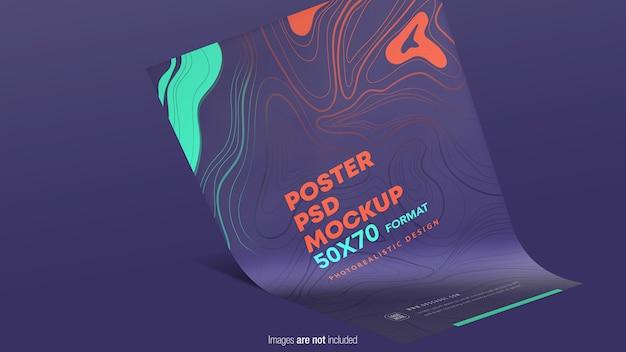 Poster mockup appeso isolato