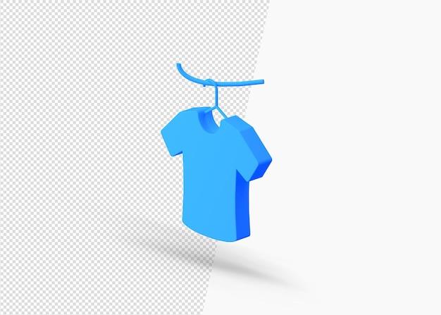 Icona 3d isometrica del prodotto di stoffa appeso