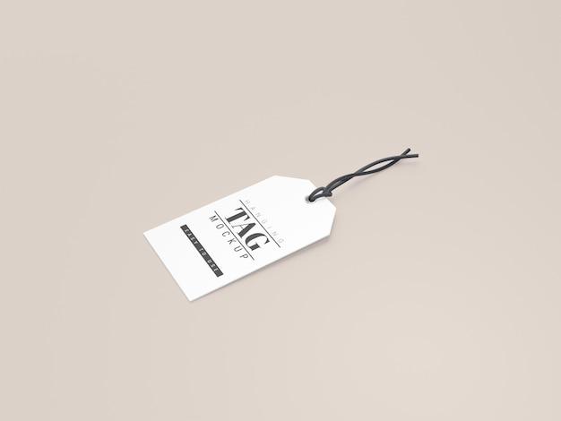 Etichetta da appendere cartellino del prezzo mockup