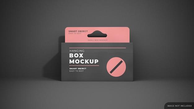 Mockup della scatola del prodotto appeso