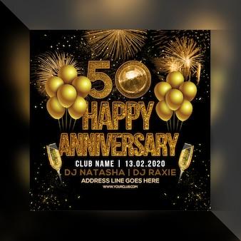 Volantino festa di buon anniversario