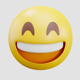 Felice emoji illustrazione 3d