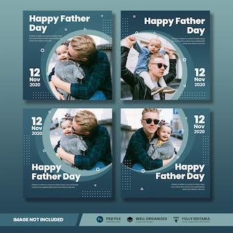 Collezione di banner happy father day social media