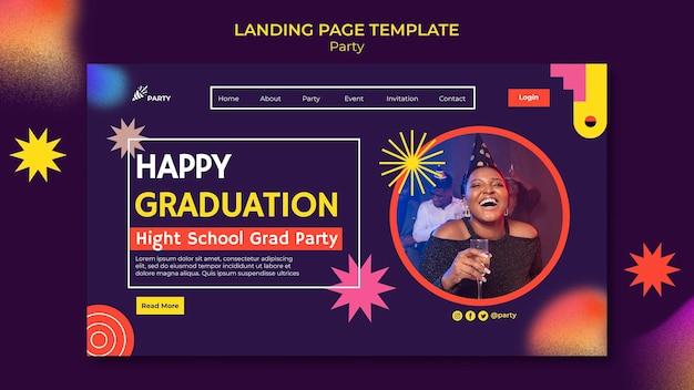 Modello di pagina di destinazione per la laurea felice