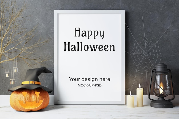 Felice modello di halloween con decorazione