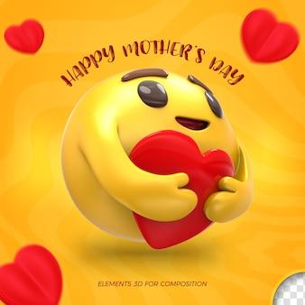 Felice festa della mamma emoji 3d