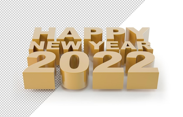 Felice anno nuovo 2022 d'oro, mockup