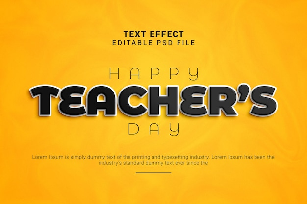 Buona giornata dell'insegnante effetto testo modificabile