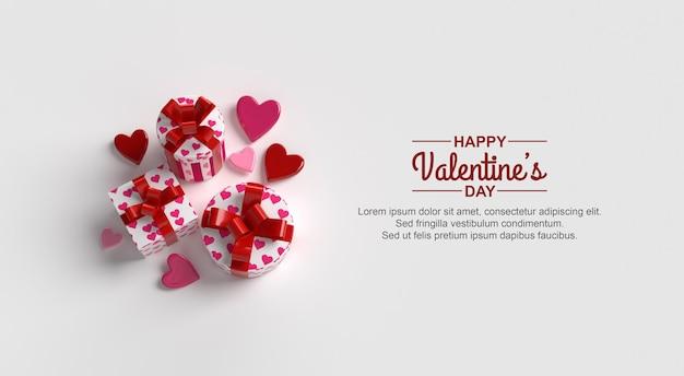 Buon mockup di design di san valentino