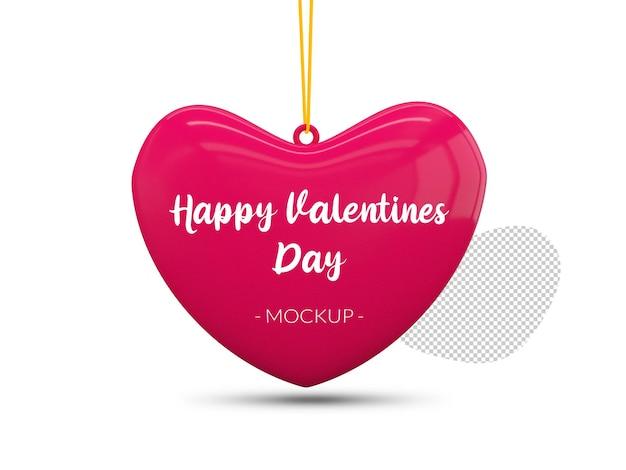 Buon mockup di cuore di san valentino