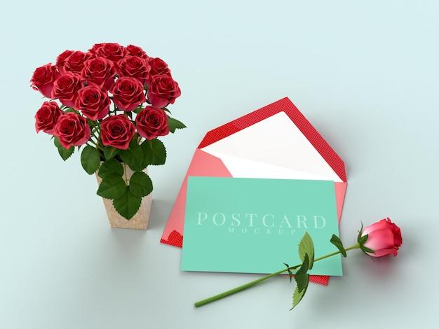 Confezione regalo di celebrazione felice giorno di san valentino con mockup di carta
