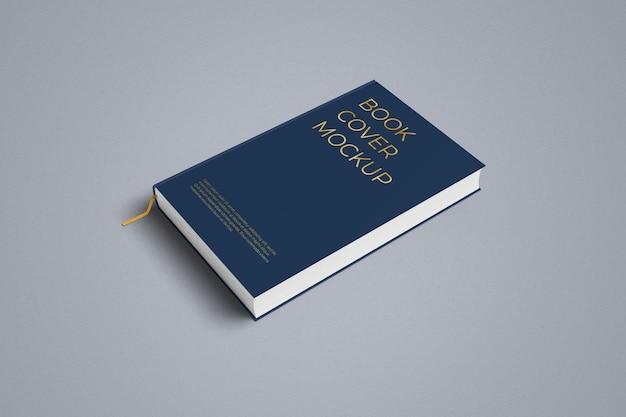Vista laterale destra del mockup del libro con copertina rigida