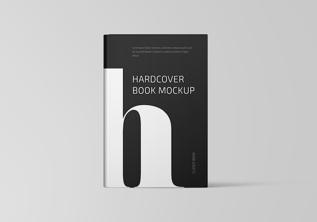 Mockup di libro con copertina rigida