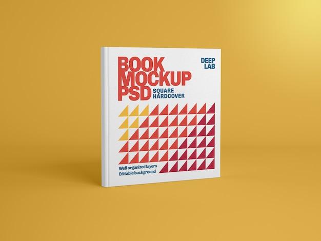 Libro quadrato dalla copertina rigida con modello di colore di sfondo modificabile
